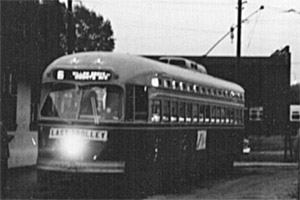 Last Route 6 car in 1958