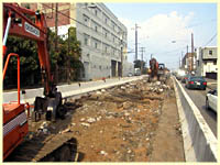 ripping up old rail on Girard Avenue