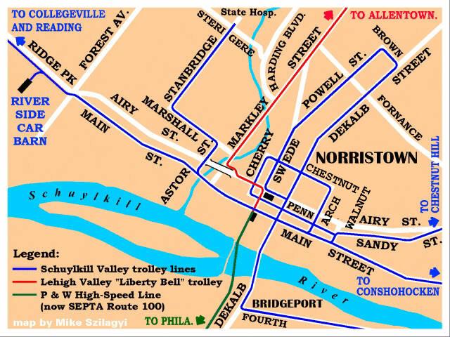 Philadelphia Trolley Tracks Norristown PA