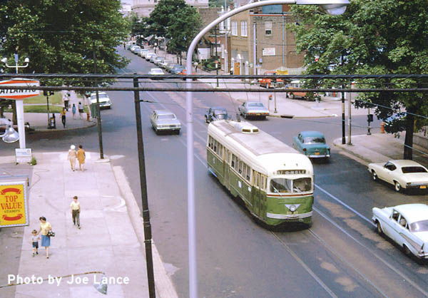 June 1969: Route 47 Trolley Car 1942 on heading south on 5th and Somerville Streets
